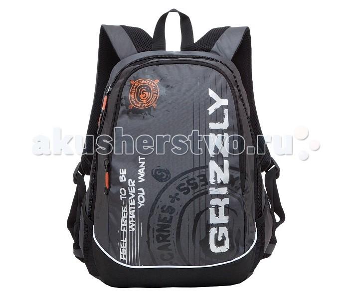 Grizzly Рюкзак RU-601-3Рюкзак RU-601-3Grizzly Рюкзак RU-601-3 выполнен из очень легкой, эластичной ткани высокой прочности. Она устойчива к износу, хорошо стирается и быстро сохнет, сохраняя свою форму.  Особенности: рюкзак молодежный два отделения  боковые карманы из сетки внутренний карман-пенал для карандашей внутренний подвесной карман на молнии анатомическая спинка дополнительная ручка-петля укрепленные лямки.<br>