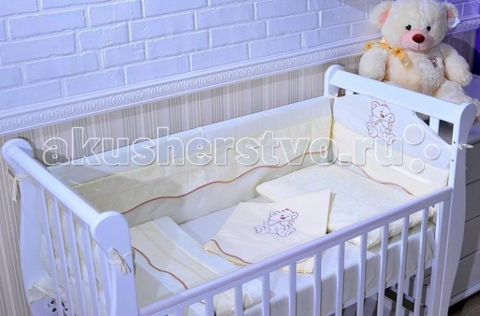 Постельное белье GulSara 07.27 (3 предмета)07.27 (3 предмета)Комплект постельного белья 07.27 (3 предмета) включает все необходимые элементы для детской кроватки.  Кроватка Вашего малыша будет неотразимой и очень уютной. Ведь в комплект входит все необходимое для крепкого и безопасного сна малыша.  Комплект сшит из 100% натуральных материалов с соблюдением высоких стандартов качества. Ткань из 100% хлопка не только мягкая и шелковистая, но так же не электризуется, долговечная и легко стирается.   Материал: бязь. Отделка: вышивка Мишка  Комплектность: простынь 100x140 см наволочка 40x60 см пододеяльник 110х140 см<br>