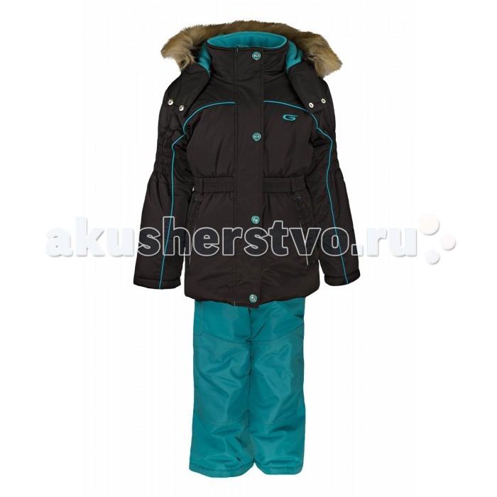 Gusti Boutique Комплект одежды GWG 3002Boutique Комплект одежды GWG 3002Зимний костюм Gusti состоит из куртки и полукомбинезона. В нем ребенку тепло и удобно независимо от того, какая температура на улице. Такая верхняя одежда – идеальный вариант для суровой зимы с сильными морозами.  Куртка:  Ткань верха shuss 5000мм  Наполнитель тек-полифилл плотностью 283 гр/м (10 унций)  Подклад флис на груди и спинке  Снегозащитная юбка  Трикотажные манжеты в рукавах, 2 внутренних кармана  Молнии и фурнитура YKK  Светоотражающие элементы 3М Scotchlite  Капюшон отстегивается, мех не отстегивается   Брюки:  Ткань верха taslan 5000мм + Cordura Oxford сзади, на коленях, и по низу брючин  Наполнитель тек-полифилл плотностью 170 гр/м (6 унций)  Регулируемые лямки полукомбинезона. Высокая грудка до размера 6х/120см; в размерах 7-14 лет отстегивающаяся спинка, грудки нет  Снегозащитные гетры. Регулируемая длина (отворот с креплением на липе)  Молнии и фурнитура YKK  Светоотражающие элементы 3М Scotchlite<br>
