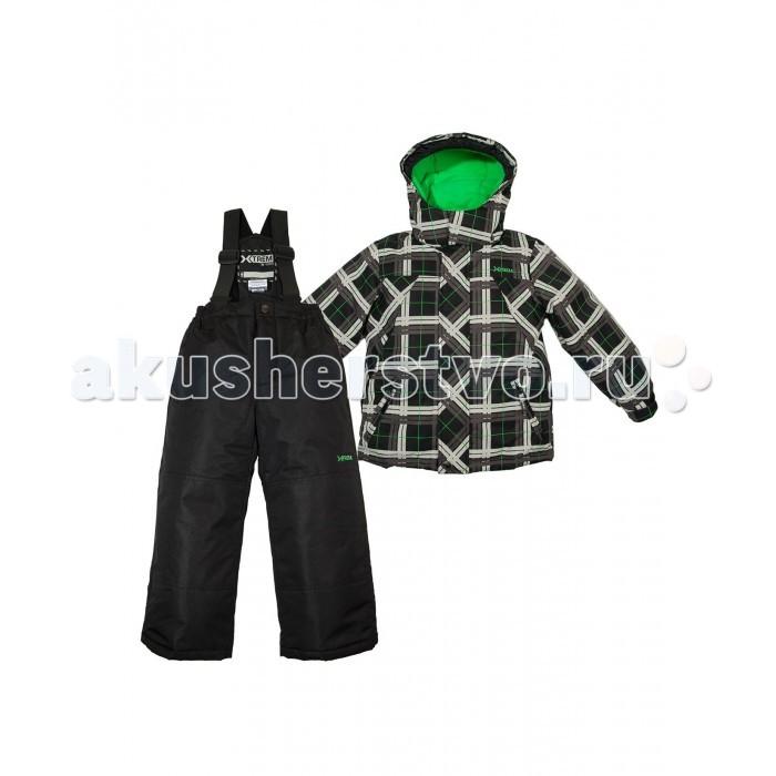 Gusti X-Trem Комплект одежды XWB 4783X-Trem Комплект одежды XWB 4783Зимний костюм Gusti состоит из куртки и полукомбинезона. В нем ребенку тепло и удобно независимо от того, какая температура на улице. Такая верхняя одежда – идеальный вариант для суровой зимы с сильными морозами.  Куртка:  Ткань верха taslan 2000мм  Наполнитель тек-полифилл плотностью 230 гр/м (8 унций)  Подклад флис на груди и спинке  Снегозащитная юбка  Регулируемый рукав  Молнии и фурнитура YKK  Капюшон отстегивается  Брюки:  Ткань верха taslan 2000мм + Cordura Oxford сзади, на коленях, и по низу брючин  Наполнитель тек-полифилл плотностью 170 гр/м (6 унций)  Регулируемые лямки полукомбинезона.  Снегозащитные гетры.  Молнии и фурнитура YKK<br>