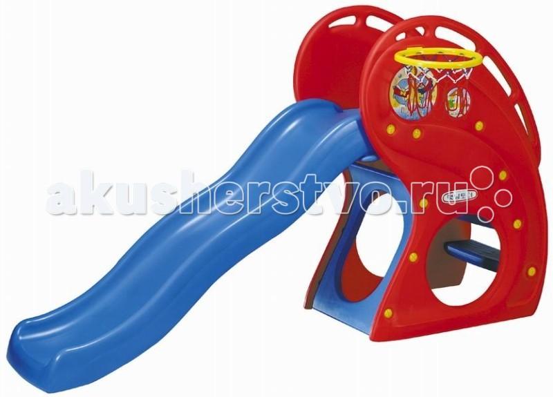 Горка Haenim Toy Дельфин с баскетбольным кольцом