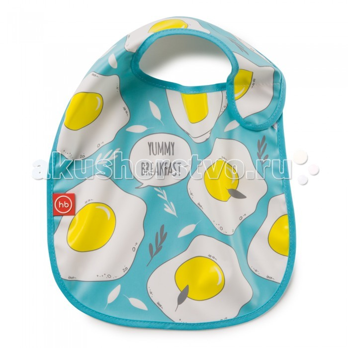 Нагрудник Happy Baby на липучке Waterproof Baby Bib от Акушерство