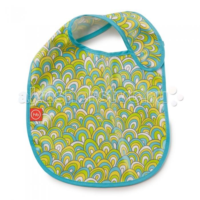 Нагрудник Happy Baby на липучке Waterproof Baby Bibна липучке Waterproof Baby BibНагрудник Happy Baby Waterproof Baby Bib на липучках.  Особенности: надежно защищает от остатков пищи приятный на ощупь материал удобная застежка на липучке  Лицевая сторона: 100% полиуретан Задняя сторона: 100% полиэстер Кант: 10% хлопок, 90% полиэстер<br>