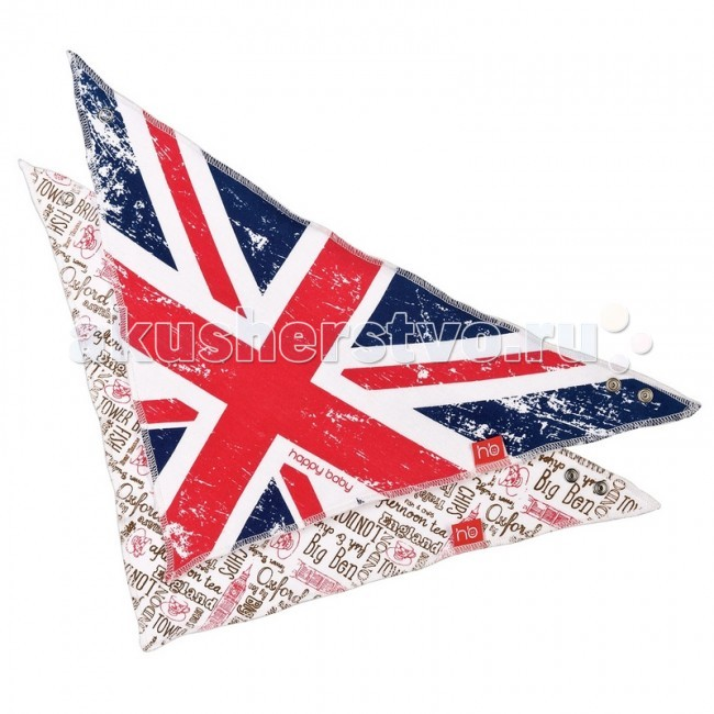 Нагрудник Happy Baby British Design/Rosary 2 шт.