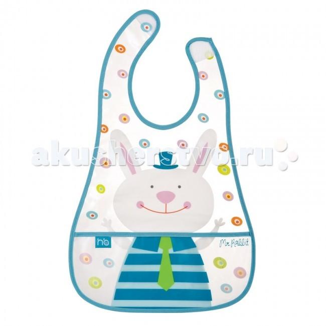 Нагрудник Happy Baby на липучке с кармашком Waterproof Baby Bib от Акушерство