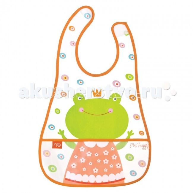 Нагрудник Happy Baby на липучке с кармашком Waterproof Baby Bib