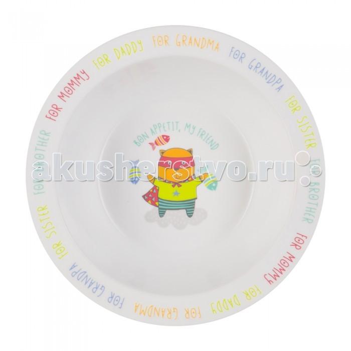 Happy Baby Глубокая тарелка для кормления с присоской Feeding BowlГлубокая тарелка для кормления с присоской Feeding BowlГлубокая тарелочка прекрасно подойдёт для первого прикорма и самостоятельных приёмов пищи. Качественный и прочный материал не позволит тарелочке разбиться при случайном падении, а широкие края делают её более удобной для использования. Забавный рисунок на дне тарелки поможет маме заинтересовать ребёнка во время кормления.  Характеристики: приучает малыша есть из посуды для взрослых не бьется при случайном падении широкие края веселый персонаж на дне тарелки поможет заинтересовать ребенка присоска не позволит перевернуть тарелку не содержит Бисфенол А  Уход: Мыть теплой водой с мылом, тщательно ополаскивать. Не кипятить. Не стерилизовать. Сушить при комнатной температуре. Не используйте для мытья сильнодействующие чистящие средства, содержащие абразивные частицы.<br>