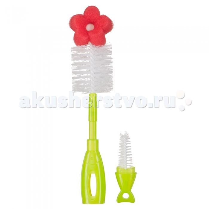 Happy Baby Набор ершиков для бутылочек и сосок 2 в 1 Bottle Nipple Brush