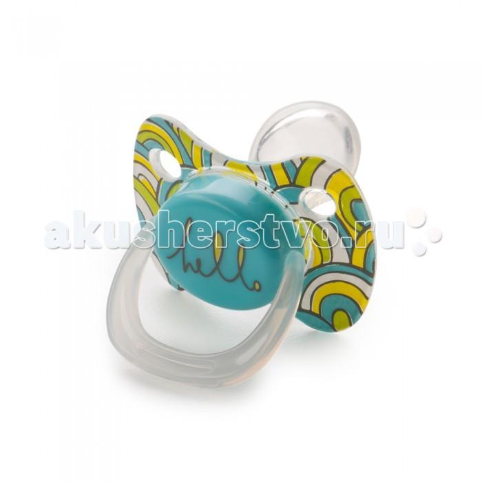 Пустышка Happy Baby ортодонтической формы с колпачком Baby Pacifier 6+