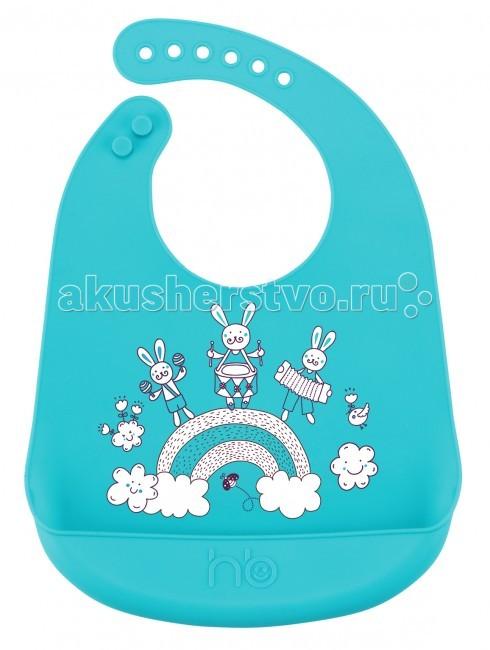 Нагрудник Happy Baby силиконовый Bib Pocket