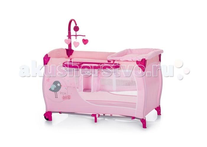 Манеж Hauck Baby CenterBaby CenterМанеж Baby Center оснащен столиком для пеленания, полкой для вещей, необходимых для пеленания, подвесным уровнем дна для новорожденных, мобилем с мягкими мишками-игрушками – функционально идеальный вариант, если Вы путешествуете с ребенком. Подвесное дно манежа для новорожденных (выдерживает нагрузку до 9 кг) облегчает укладывание и доставание ребенка, предохраняя Вашу спину от перенапряжения. Манеж-кровать Hauck Baby Center  оснащена двумя колесиками со стопами, которые позволяют легко перемещать по комнате. Система складывания достаточно проста и в сложенном состоянии Baby Center не занимает много места.  Особенности: Для детей с рождения до 3 лет 2 уровня высоты, максимальная нагрузка на верхний уровень - 7 кг Столик для пеленания Музыкальная подвеска с игрушками Боковая панель для принадлежностей Два колеса В комплекте матрасик и сумка для транспортировки Компактно складывается  Характеристики: Размеры в разложенном состоянии: 60 x 120 x 80 см Размеры в сложенном состоянии : 80 x 27 x 27 см Размер внутреннего пространства: 120 x 60 см Толщина матраса: 2 см Вес: 14 кг<br>