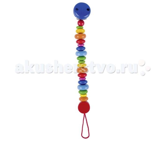 Деревянная игрушка Heimess Держатель с клипсой Цветные монетки