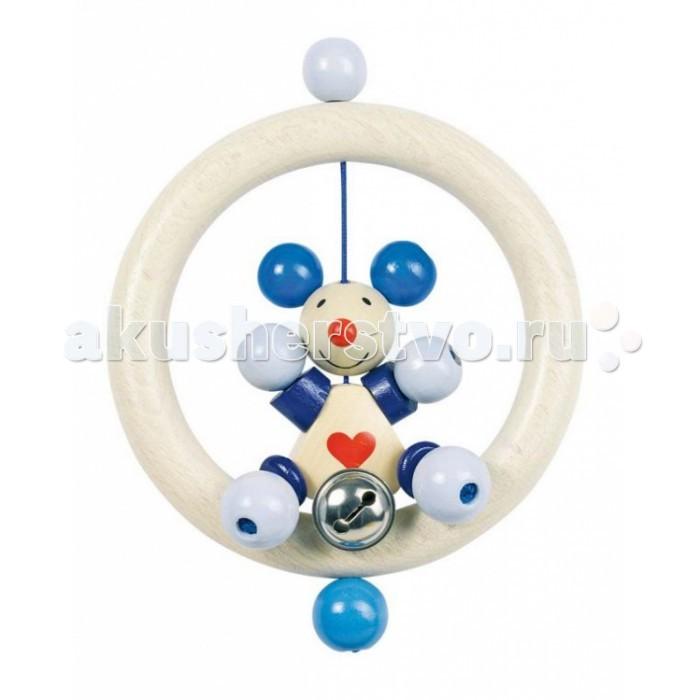 Деревянная игрушка Heimess Кольцо МышкаКольцо МышкаДеревянная игрушка Heimess Кольцо Мышка состоит практически из одних шариков, которые малышу интересно перебирать в ручках. У погремушки есть звонкий колокольчик.  Абсолютно безопасные очень стойкие краски на водной основе.  Размеры: 13 см<br>