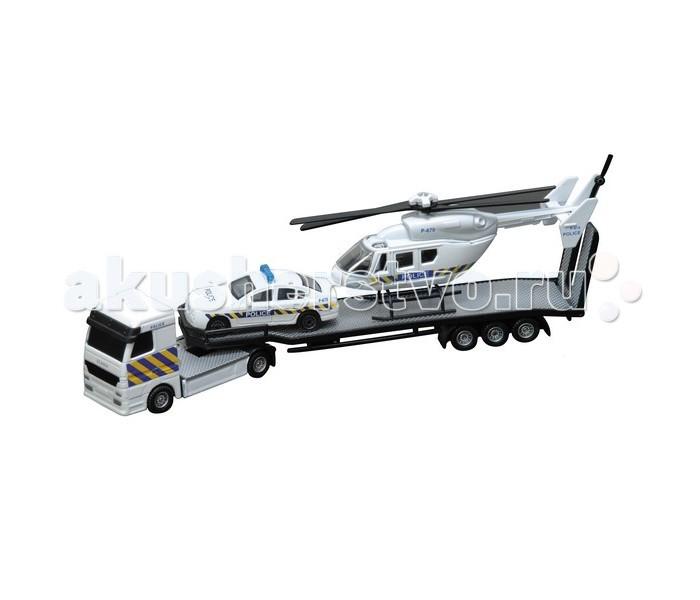 Roadsterz Перевозчик с машиной и вертолетомПеревозчик с машиной и вертолетомИгра в машинки это не только прекрасное развлечение для мальчиков, но и способ развить моторику, опорно-двигательный аппарат, логическое мышление, координацию. Важно, чтобы игрушки были безопасны для малышей, качественно выполнены, чтобы не сломаться в первый же день и не вызвать слез и досады у ребенка.  Всем этим требованиям отвечают машинки компании HTI. Высокие европейские стандарты залог высокого качества.  Игровой набор «Перевозчик с машиной и вертолетом» это мини-копия грузовика, который везет в своем прицепе вертолет и легковую машину. Высокая степень детализации сделает игру интереснее, а яркий цвет поможет развить цветовое восприятие. Рекомендуется детям от 3 лет.<br>