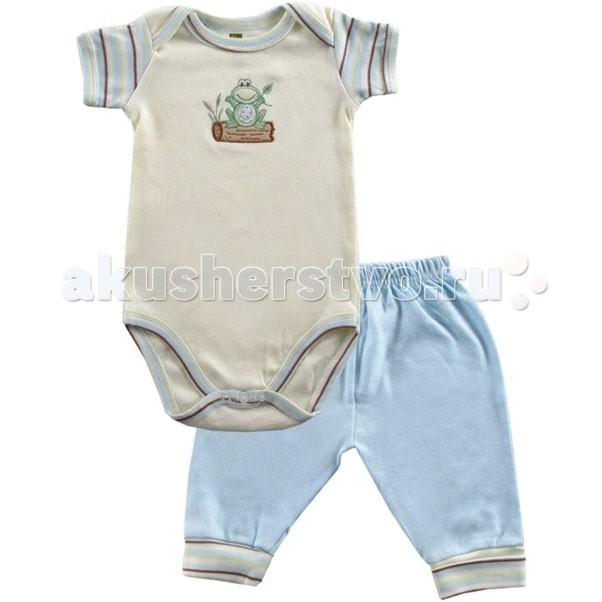 Hudson Baby Комплект Боди короткий рукав и штанишки Органик (2 предмета)