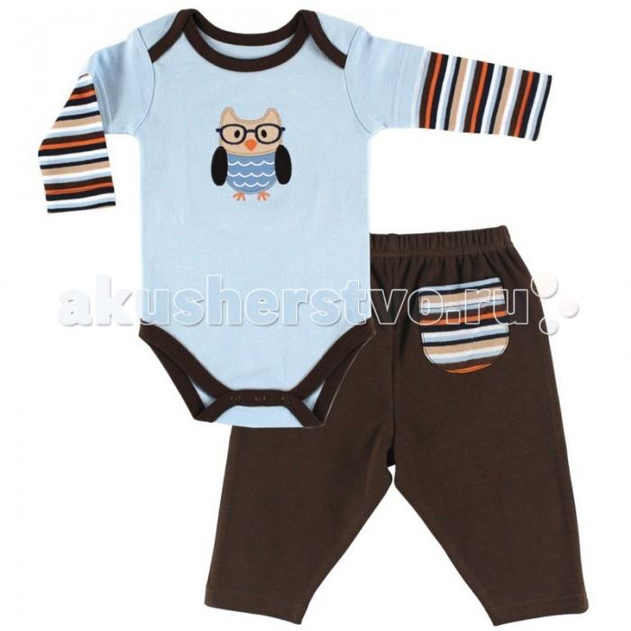 Hudson Baby Комплект Боди длинный рукав и штанишки Сова (2 предмета)