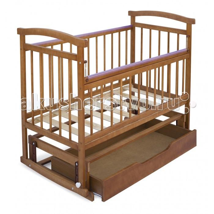 Детская кроватка Бэби Бум Аленка 3 маятник - Орех