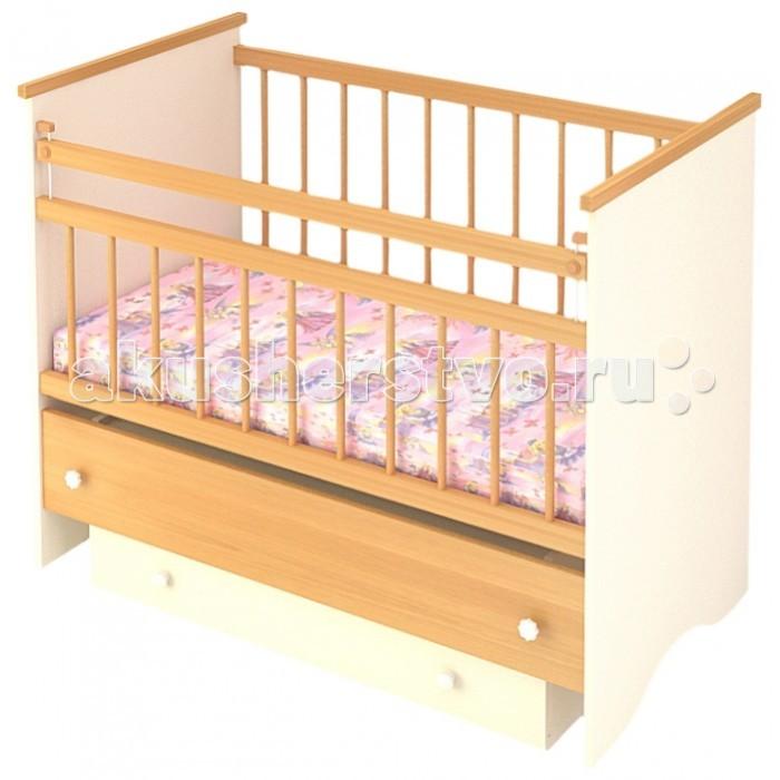 Детская кроватка Бэби Бум Вероника (маятник продольный) - Бук