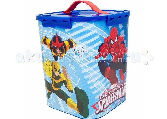 Idea (М-Пластика) Контейнер для детских принадлежностей Человек паук 10 л