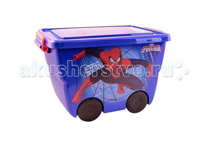 Idea (М-Пластика) Ящик для игрушек Человек паукЯщик для игрушек Человек паукЯщик для игрушек Человек паук  Детский пластиковый  ящик  Человек паук станет незаменимым помощником в любой детской комнате. В ящике удобно хранить игрушки, книжки и одежду.   Ящики для хранения оснащены удобными ручками и колесами. Составляются друг на друга и легко перемещаются по комнате.  Дополнительно к  ящику можно приобрести комод Человек паук.<br>