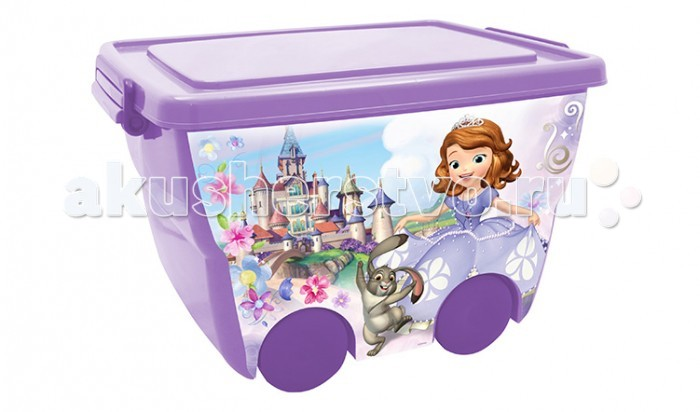 Idea (М-Пластика) Ящик для игрушек на колёсах Дисней45х33х28,5 см