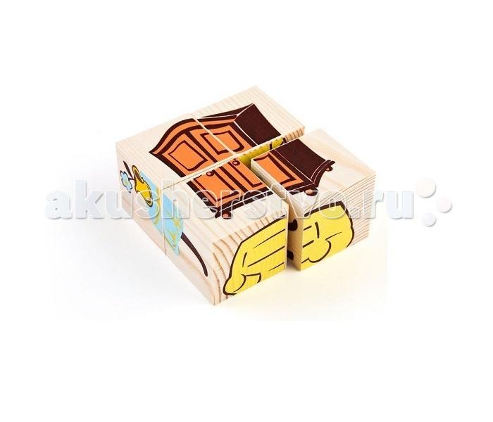 Деревянная игрушка Томик Кубики Мебель 4 шт.