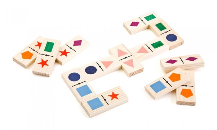 Деревянная игрушка Томик Домино Геометрические фигуры