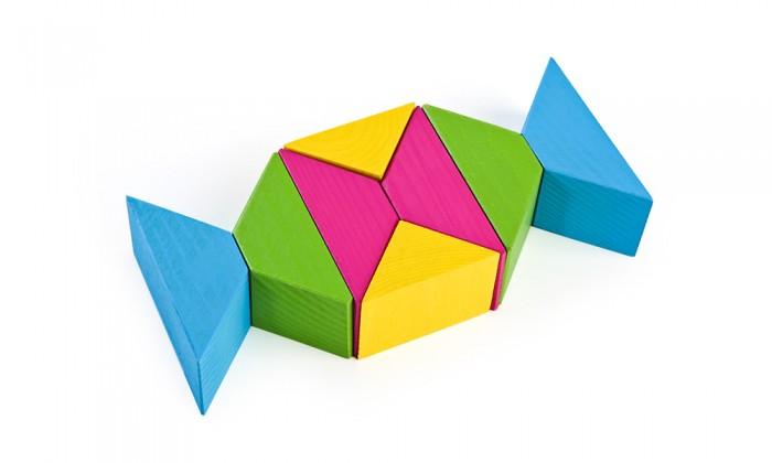 Деревянная игрушка Томик Цветные треугольники 16 деталейЦветные треугольники 16 деталейНабор Цветные треугольники 16 деталей состоит из ярких и красочных треугольников и может быть использован как дополнение к другим деревянным конструкторам Томик.  Набор Цветные треугольники 16 деталей также является удобным дидактическим материалом.<br>
