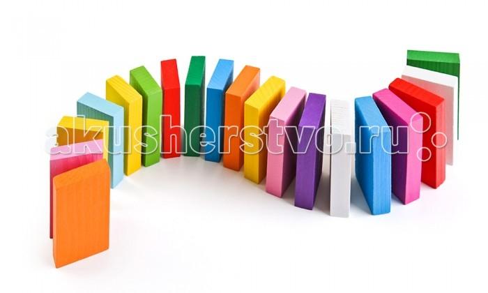 Деревянная игрушка Томик Цветные плашки 28 деталей