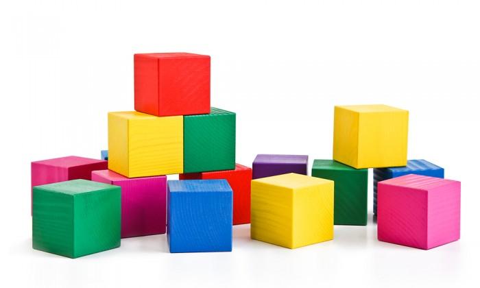 Деревянная игрушка Томик Кубики цветные 20 шт