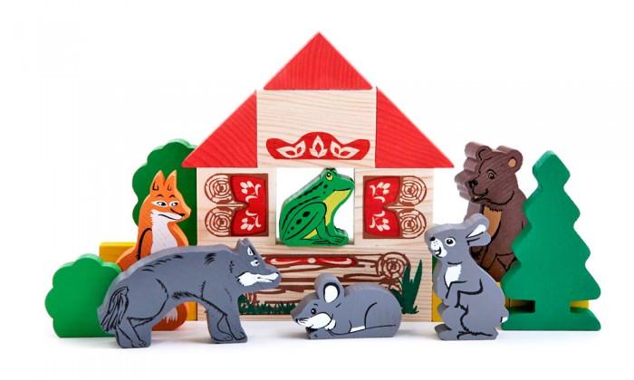 Деревянная игрушка Томик Конструктор Сказки Теремок 17 деталей