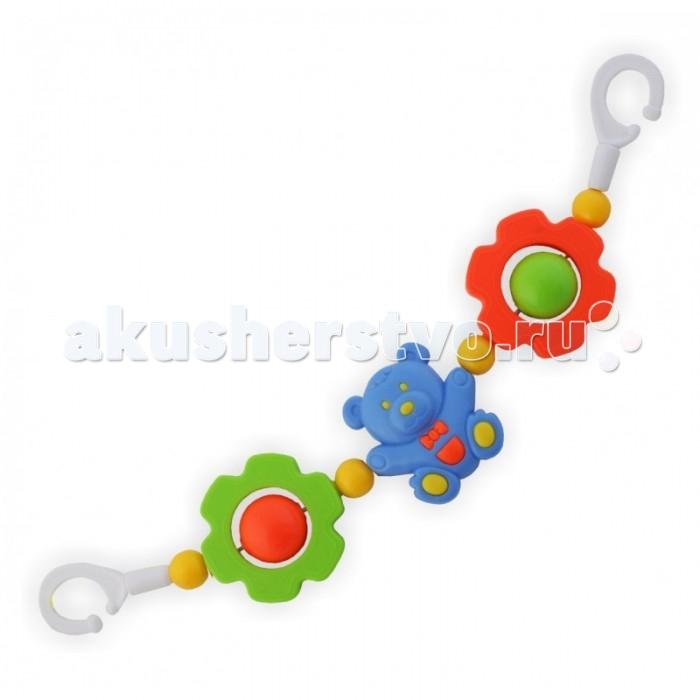 Baby Mix Погремушка на коляску Мишка и цветочкиПогремушка на коляску Мишка и цветочкиКрасочная погремушка Baby Mix Мишка и цветочки крепится на коляску, с ней прогулка станет ещё интереснее.  Особенности: Эта простая, но в то же время красочная погремушка станет необходимым атрибутом во время ежедневных прогулок.  Она с лёгкостью крепится на коляске, а если малыш захочет поиграть с ней дома, то мама может без труда повесить её на кроватку. Погремушка яркая и красочная, разнообразие форм игрушки развеселят даже самого капризного ребёнка. Лёгкая погремушка изготовлена из высококачественных материалов. Яркие и разнообразные цвета погремушки будут способствовать развитию у ребёнка зрительного восприятия.   Благодаря тому, что все игровые элементы погремушки подвижные, это поможет ему развивать навык слежения за движущимся объектом.  Погремушка на коляску крепится на коляску. Ребёнок будет учиться хватать и держать игровые элементы, тренировать мышцы руки. Во время игры малыш будет вертеть, крутить, щупать погремушку. Все эти действия будут стимулировать развитие тактильного восприятия.<br>
