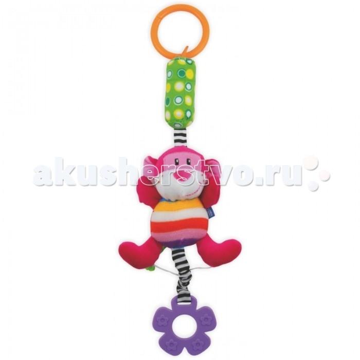 Подвесная игрушка Baby Mix Обезьянка с колокольчиком от Акушерство