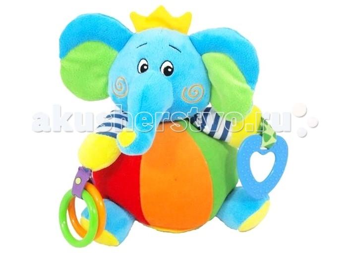 Погремушка Baby Mix Игрушка Слон в коронеИгрушка Слон в коронеBaby Mix Игрушка Слон в короне с погремушкой. Веселая и забавная игрушка порадует вашего кроху и будет способствовать его развитию. Изготовлена из качественных материалов. Соответствует европейским стандартам к качеству детских товаров. Яркие красочные детали, забавный дизайн. Универсальное крепежное кольцо. Разно-фактурный материал, голова Слоника поворачивается. Слоник устойчиво сидит благодаря безопасному зеркальцу. Ребенок постарше так же полюбит играть с мягкой игрушкой.  Особенности: Яркие краски влияют на развитие зрения малыша. Мягкая ткань и разно-фактурность обогащает тактильные ощущения ребенка. Тренируется мелкая моторика рук, а так же координация движений, ведь малыш точно захочет дотронуться до игрушки.<br>