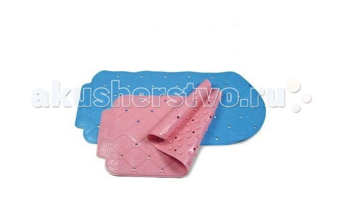 Коврик Сказка для ванны 37х77для ванны 37х77Коврик Сказка для ванны 37х77 см - обеспечивает ребенку безопасность во время купания.   Коврик стелется на дно ванны или душевой кабины и защищает малыша от скольжения.   Надежно крепится с помощью присосок.   Материал: выполнен из высококачественной резины.  Цвета в ассортименте.<br>