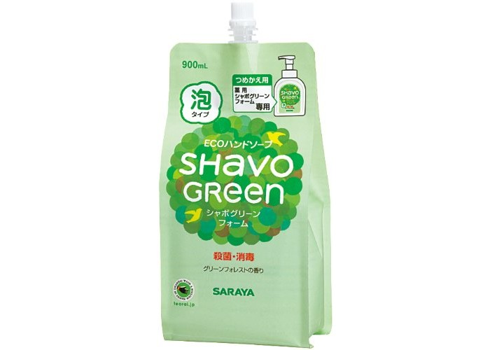 Saraya Shavo Green Мыло для рук 900 млShavo Green Мыло для рук 900 млSaraya Shavo Green Мыло для рук 900 мл для ежедневного использования.   Комплект постельного белья: Создано на основе натурального мыла растительного происхождения.  Не сушит кожу рук, подходит для чувствительной кожи.  Обладает антибактериальным действием.  Содержание натуральных компонентов >99%. Вода, амфолитный сурфактант на основе кокосового масла, глицерин, о-цимен-5-ол (антибактериальный компонент, 0,2%), тетранатриевая соль ЭДТА, отдушка<br>