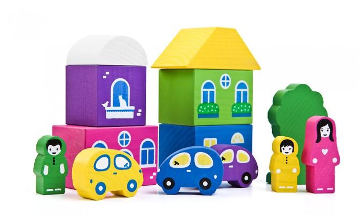 Деревянная игрушка Томик Конструктор Цветной городок розовый  14 деталейКонструктор Цветной городок розовый  14 деталейС помощью Конструктора Цветной городок розовый  14 деталей малыш сможет нетолько построить целый город, ноикак настоящий волшебник наполнить его жизнью. А придумывая сюжеты игр, ребенок развивает воображение, связную речь, овладевает навыками ролевого поведения.<br>