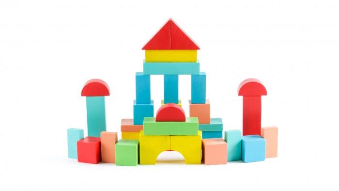 Деревянная игрушка Томик Конструктор Краски дня Утро 30 деталей