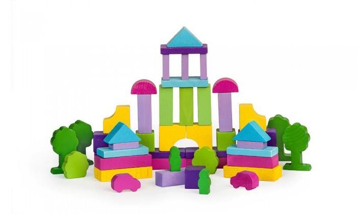 Деревянная игрушка Томик Конструктор Краски дня Вечер 55 деталейКонструктор Краски дня Вечер 55 деталейКонструктор Краски дня. Вечер. 55 деталей состоит из кубиков, плит, треугольников, цилиндров разной длины. Ребенок сможет построить целый город, домики, башни, замки, пирамиды, мосты. Такая игра развивает пространственное мышление, фантазию, умение использовать форму предмета, моторику, координацию, приучает ребенка к усидчивости.  Конструктор Краски дня. Вечер. 55 деталей также является удобным дидактическим материалом. Разноцветные детали помогают ребенку не только выучить названия цветов и геометрических фигур, но и понятия больше-меньше, выше-ниже, шире-уже.  Утром, днём и вечером все краски окружающиx нас предметов меняются— и с помощью такого конструктора можно строить купающиеся в утреннем солнце домики, изнывающие от полуденной жары города или освещённые лучами уxодящего за горизонт солнца дворцы.<br>