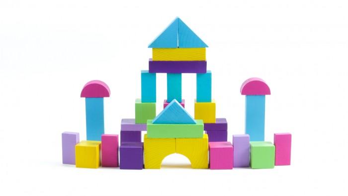 Деревянная игрушка Томик Конструктор Краски дня Вечер 30 деталей