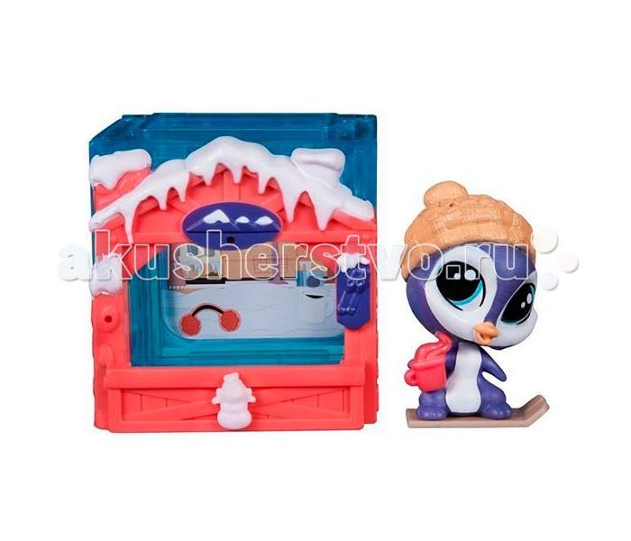 Littlest Pet Shop ПингвиненокПингвиненокLittlest Pet Shop Пингвиненок. Фигурка симпатичного пингвиненка в комплекте с его маленьким домиком - отличный выбор для всех поклонников серии игрушек бренда Littlest Pet Shop от компании Хасбро!   Жилье пингвина декорировано в соответствии с условиями среды обитания этой зверюшки - крышу украшает снег и сосульки. Сам домик украшен в яркий красный цвет.  Собери все домики героев мультфильма Маленький зоомагазин и ты сможешь построить свой собственный магазинчик питомцев. Каждый домик выполнен в виде куба; их можно соединить между собой и дополнить панелями, которые продаются отдельно.   В комплект входят наклейки, которыми можно украсить интерьер.<br>