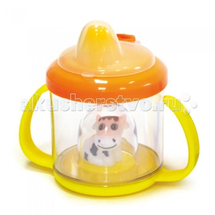 Поильник Сказка Зверюшки 230 млЗверюшки 230 млПоильник Сказка с яркой игрушкой внутри поможет вашему малышу перейти от кормления из бутылочки к чашке. Поильник удобно использовать на прогулке и в дороге.  Удобные ручки позволят малышу освоить навыки самостоятельного питья.  Изделие оснащено уникальным клапаном, который предотвращает проливание даже при наклоне поильника.  Изготовлен из безопасного поликарбоната.  Материал, используемый для нанесения цветной печати на поильнике не токсичный, не имеет запаха, стойкий к температуре 120°С во время стерилизации.   Цвета в ассортименте.<br>