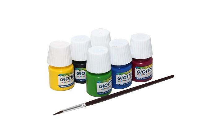 Giotto Paint Pot Гуашь 6 цветовPaint Pot Гуашь 6 цветовGiotto Paint Pot Гуашь 6 цветов х 25 мл.  Краски гуашь в пластмассовых баночках с завинчивающейся крышкой и яркой наклейкой с указанием цвета краски. Упакованы в цветную картонную коробку. Рекомендована для учащихся художественных и общеобразовательных учреждений, а также для дошкольников.   Гуашь обладает следующими потребительскими свойствами: насыщенность и чистота цвета, превосходная кроющая способность, хорошая разносимость, равномерность нанесения на поверхность, легкая наполняемость кисти, краски смешиваются между собой, создавая новые чистые оттенки, при высыхании приобретают матово-бархатистую поверхность абсолютно безвредны, соответствуют европейским стандартам безопасности<br>