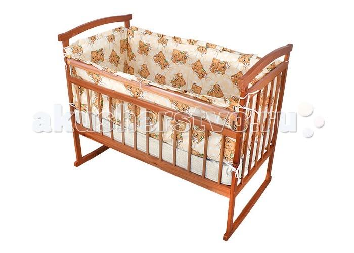 Бампер для кроватки Карапуз 127-КИ127-КИБампер для кроватки Карапуз 127-КИ является отличной защитой малыша от сквозняков и ударов при поворотах в кроватке.   Материал: 100% хлопок, наполнитель поролон Высота борта 40 см<br>