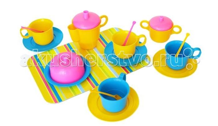Плэйдорадо Набор посуды ЧаепитиеНабор посуды ЧаепитиеНабор посуды Чаепитие Плэйдорадо - это яркие столовые приборы, при помощи которых можно угощать гостей. Комплект изготовлен из качественного, безопасного для ребенка пластика и станет хорошим подарком для сюжетно-ролевой игры. Благодаря набору малышка сможет устроить чаепитие со своими подружками или куклами.    Основные характеристики:  Размер упаковки: 160x240x100 мм Вес: 0.150 кг<br>