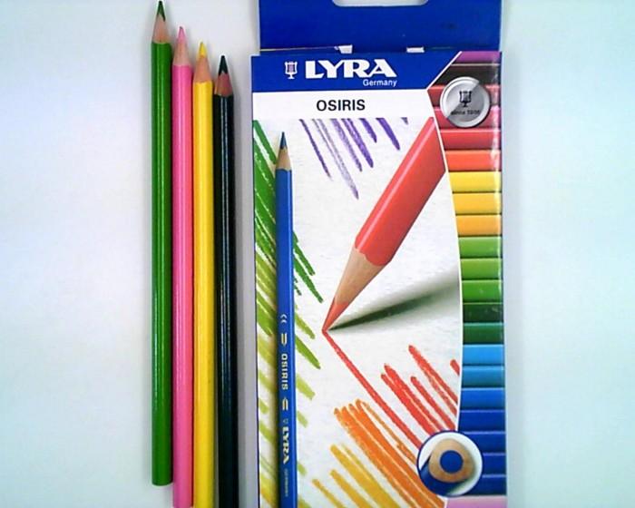 Lyra Osiris Aquarell цветные акварельные 12 цветовOsiris Aquarell цветные акварельные 12 цветовLyra Osiris Aquarell цветные карандаши акварельные 12 цветов.  Акварельные цветные лакированные карандаши, треугольное сечение для удобного захвата. Диаметр грифеля 3,3 мм, диаметр карандаша 7 мм. Экономичная линейка карандашей.<br>
