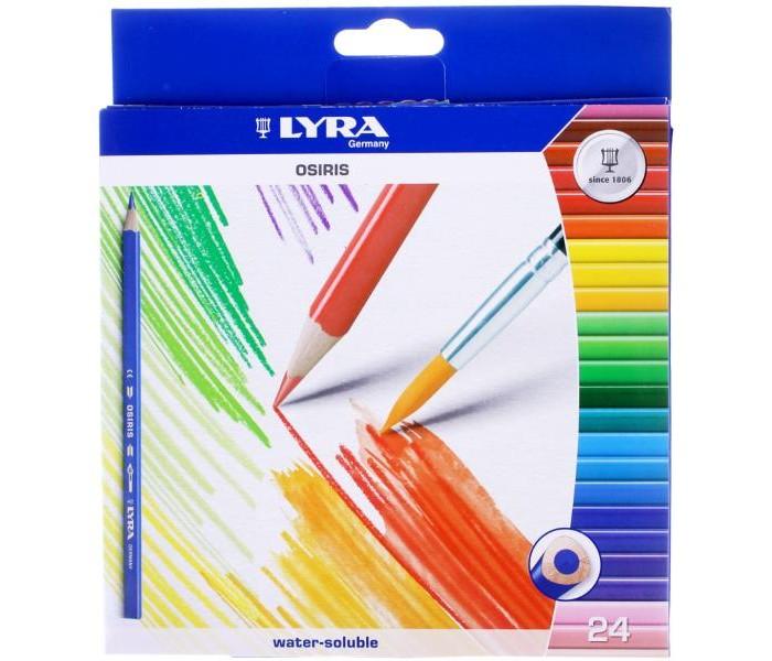 Lyra Osiris Aquarell цветные акварельные 24 цветаOsiris Aquarell цветные акварельные 24 цветаLyra Osiris Aquarell цветные карандаши акварельные 24 цвета.  Акварельные цветные лакированные карандаши, треугольное сечение для удобного захвата. Диаметр грифеля 3,3 мм, диаметр карандаша 7 мм. Экономичная линейка карандашейю<br>