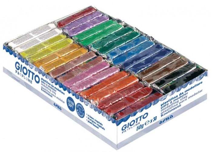 Giotto Patplume пластилин 15 цветов х 50 г 30 шт.Patplume пластилин 15 цветов х 50 г 30 шт.Giotto Patplume пластилин 15 цветов х 50 г 30 шт.  Уникальный пластилин. Упаковка: 15 цветов х 50 г 30 шт. на дисплее. Классические цвета. Растительная основа, высокая пластичность - позволяет делать даже мельчайшие детали, которые легко соединяются между собой. Пластилин не боится перемен температуры, не требует длительного разминания.   Без запаха, не теряет своих свойств даже при длительном хранении. Не липнет к рукам. Легко отстирывается, не оставляя следов на любой поверхности. Не затвердевает на воздухе. Можно использовать различные техники лепки, рисования, моделирования. Отгружается кратно упаковке. Цена указана упаковку. Для детей от 2-х лет!<br>