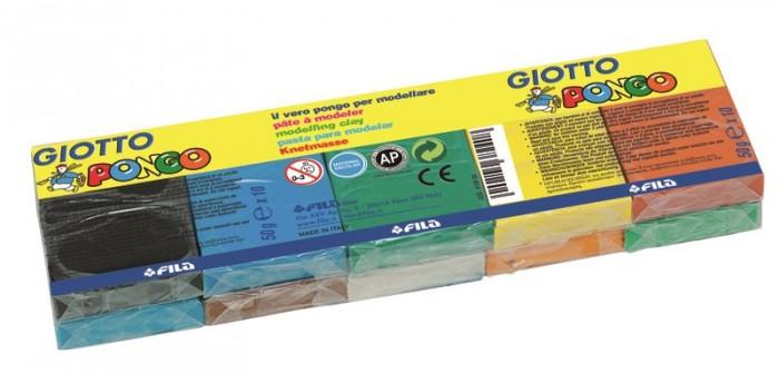 Giotto Patplume восковой пластилин, классические цвета 10 цветов х 50 г