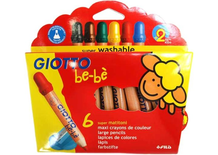 ��������� Giotto be-be Super Largepencils ���������� � �������� 6 ������